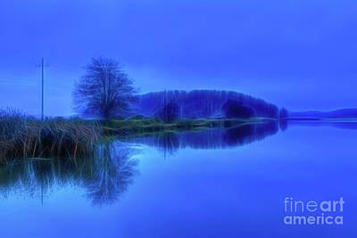Landscapes Mixed Media - Blues by Veikko Suikkanen