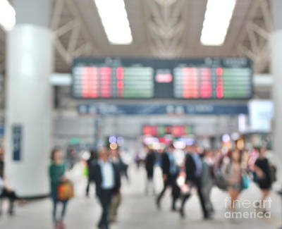 Photograph - Blurred Background Of Busy Transportation Hub by Yali Shi