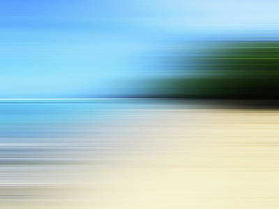 Photograph - Blurred Beach by Studio Parris Wakefield