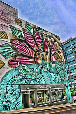 Photograph - Blush Boutique Mural - Nashville by Allen Beatty