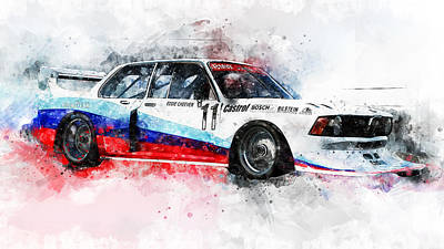 Painting - Bmw 320 1978 - 09 by Andrea Mazzocchetti