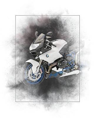 Mixed Media - Bmw Hp2 Sport Painting by Smart Aviation