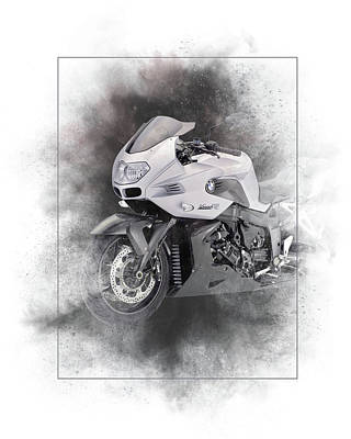 Mixed Media - Bmw K1200r Sport Painting by Smart Aviation