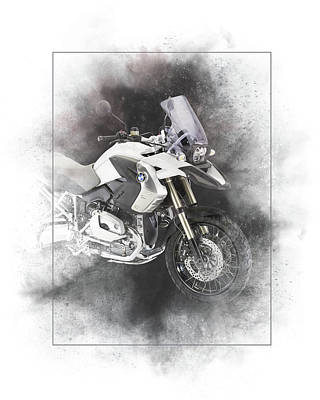 Mixed Media - Bmw R1200gs Painting by Smart Aviation
