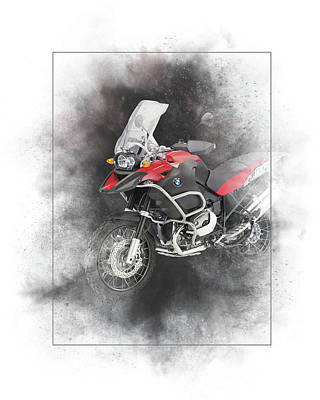 Mixed Media - Bmw R1200r Painting by Smart Aviation