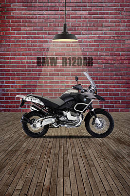 Mixed Media - Bmw R1200r Red Wall by Smart Aviation
