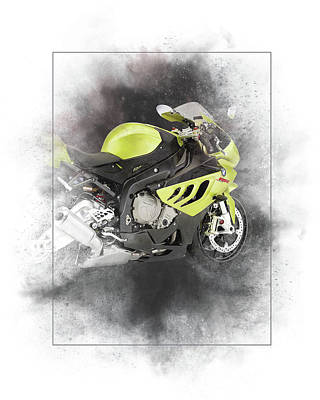 Mixed Media - Bmw S1000r Painting by Smart Aviation
