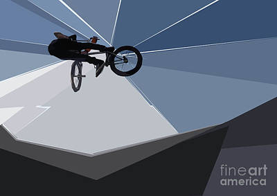 Digital Art - Bmx Biking  by Wendy Thompson