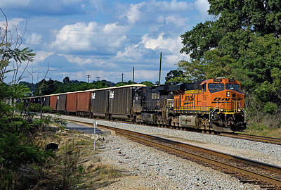 Photograph - Bnsf 7618 by Joseph C Hinson Photography