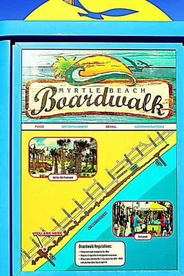 Photograph - Boardwalk Map by Cynthia Guinn