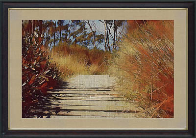 Mixed Media - Boardwalk To The Beach by Clive Littin