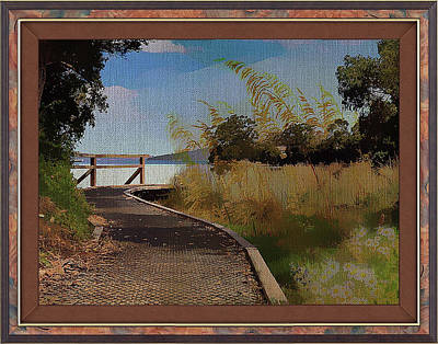Mixed Media - Boardwalk To The Shore by Clive Littin
