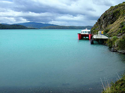Photograph - Boat At Torres Del Paine by Thomas Davis