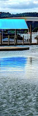Travel Rights Managed Images - Boat Awning Reflected Royalty-Free Image by Jerry Sodorff