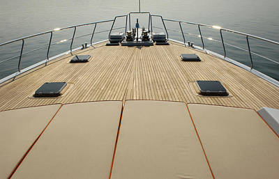 Recreational Boat Photograph - Boat Deck by 1001nights