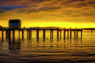 Photograph - Boat House Old Pier by Garry Gay