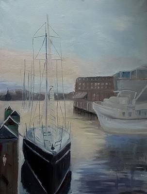 Painting - Boat In Annapolis Harbor by Katherine Cobb