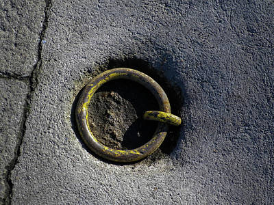 Photograph - Boat Mooring Ring Padstow by Richard Brookes