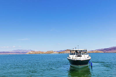 Photograph - Boat On Lake Mead by SR Green