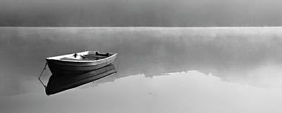 Photograph - Boat On Misty Lake by Avtg