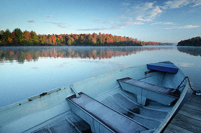 Photograph - Boat On The Lake by Crystal Wightman