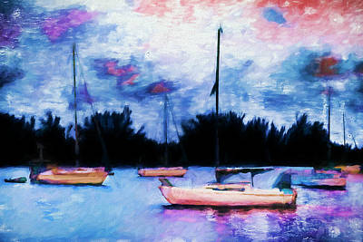 Photograph - Boat Painting Series 8883 by Carlos Diaz