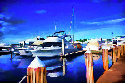 Photograph - Boat Painting Series 9294 by Carlos Diaz