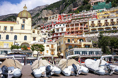 Photograph - Boat Parking In Positano by John Rizzuto