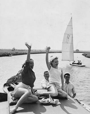 Recreational Boat Photograph - Boat Party by John Drysdale