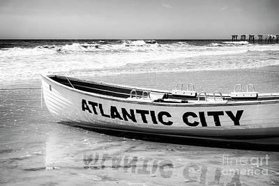 Photograph - Boat Reflections At Atlantic City by John Rizzuto