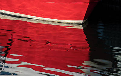 Photograph - Boat reflections by Mike Santis