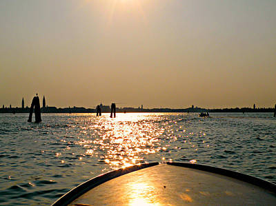 Photograph - Boat Ride To Venice by Micki Findlay