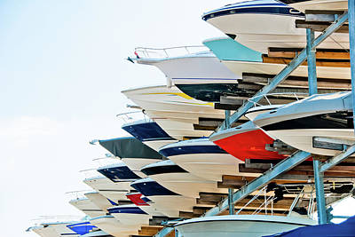 Recreational Boat Photograph - Boat Storage by Don Klumpp