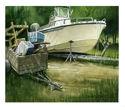 Painting - Boat Stuff by Dan Nelson