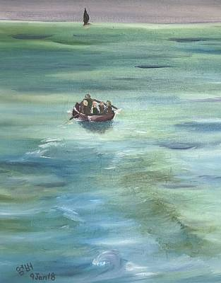 Painting - Boat To Freedom by Amber Nicole
