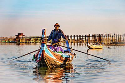 Photograph - Boatman On Taung Tha Man Lake by Chris Lord