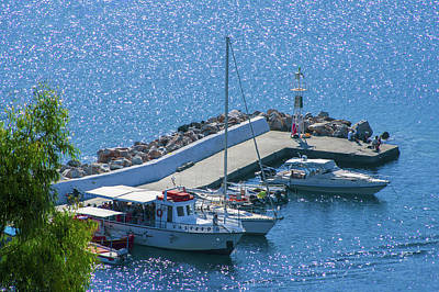 Photograph - Boats At The Pier Of Bali by Sun Travels