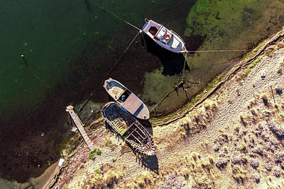 Photograph - Boats Attached by Okan YILMAZ