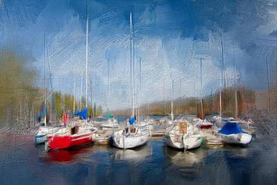 Painting - Boats In Brixham Harbour by Seascapes