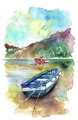 Painting - Boats In Ezaro In Galicia 02 by Miki De Goodaboom