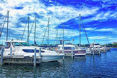 Photograph - Boats In Harbor Series 9094 by Carlos Diaz