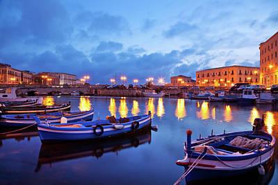Boats In Sicily, Italy Art Print