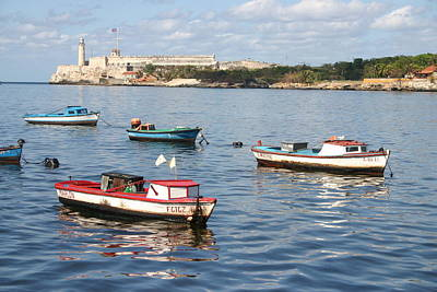 Photograph - Boats In The Harbor Havana Cuba 112605 by Rick Veldman