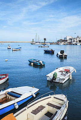 Photograph - Boats Moored In Bari Harbour by Ed Norton