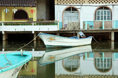 Photograph - Boats On Still Lagoon by Blind Dog Photo Dan Gair