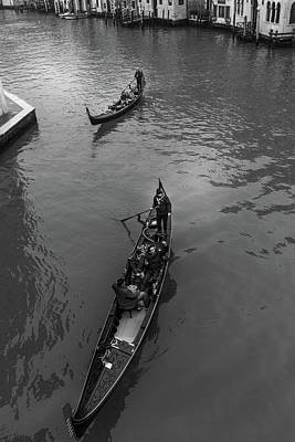 Photograph - Boats On The Grand Canal by Georgia Fowler
