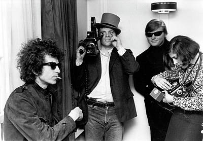 Photograph - Bob Dylan & D.a. Pennebaker From Dont by Michael Ochs Archives