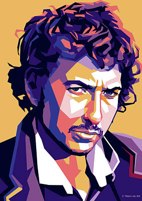Digital Art Royalty Free Images - Bob Dylan Royalty-Free Image by Stars on Art