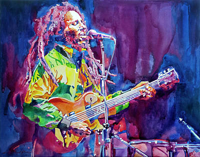 Painting - Bob Marley Jammin' II by David Lloyd Glover