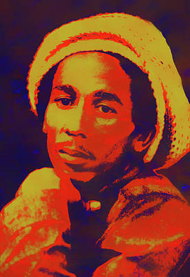 Painting - Bob Marley Pop Art by Dan Sproul